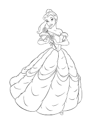 Free Printable Belle Coloring Pages For