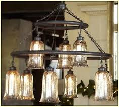 pottery barn brantley antique mercury glass chandelier light rasped iron finish