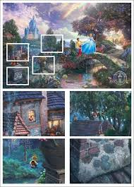 Thomas kinkade disney collection is a group of paintings inspired by great moments from famous walt disney movies this 750 piece puzzle features if you like thomas kinkade disney puzzles, you might love these ideas. Pin By Audrey Dickson On Fairy Tales And Geeks Disney Paintings Disney Fanatic Disney Freak