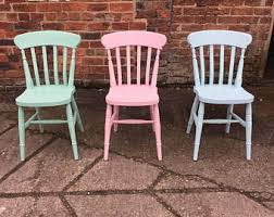 wooden farmhouse chairs. Simple Chairs Painted To Order Farmhouse Dining Chairs Custom Solid Wood Chairs Finished  In Any Farrow And Ball Paint Colour With Ribbon Slat Chair Backs On Wooden T