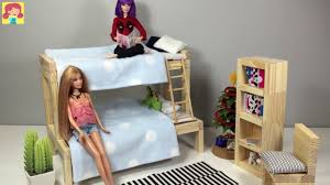 homemade doll furniture. How To Make Doll Bed For Barbie Chelsea DIY Furniture Making Kids Toys Homemade L