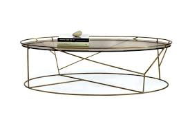 rustic oval coffee table brass frame coffee table with oval glass top for small rustic photo