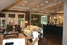farmhouse style open floor plans small lake house plan large kitchen with wrap around concept full