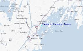 Falmouth Foreside Maine Tide Station Location Guide
