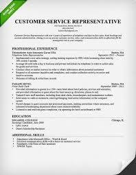 Resume Example Free Sample Resumes For Customer Service Resume