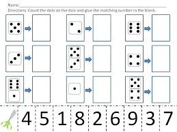 Free Worksheets Cut And Paste Math For Grade Kindergarten All 3rd ...