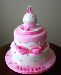 Baby First Birthday Cakes Pictures Royal Princess Party Pink Gold