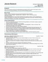 Resume Format For Maintenance Engineer Lovely Chemical Engineering