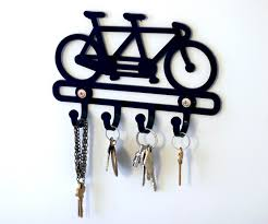 Bicycle gift, bicycle key rack, bike rack, wall hook, door hook,