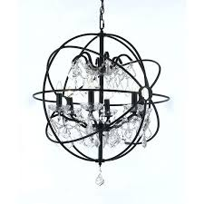 lovely foucault orb chandelier or orb chandelier wrought iron and crystal 73 foucaults orb chandelier 18