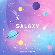 galaxy backround lovely galaxy background with flat design vector free download