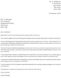 property administrator cover letter agency cover letter