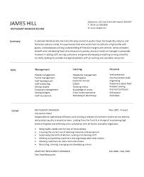 Restaurant Manager Resume Objective Objective For Hotel Resume Hotel Concierge Resume Objectives