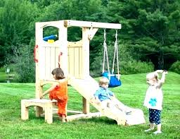 childrens outdoor playsets playhouse swing set plans