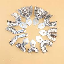 Free Shipping 2Pcs/<b>Set Dental Impression Tray</b> Stainless Steel ...
