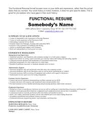 Ideas Collection Functional Resume Samples With No Job Experience