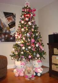 ... Beautiful Home Christmas Tree Decoration Ideas : Lovely And Cute Hello  Kitty Christmas Tree Theme Decoration