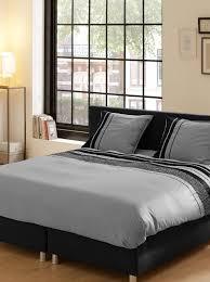 descanso 9248 s grey lits king size 100 percent cotton satin duvet cover