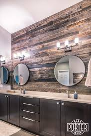 backsplash bathroom ideas. Speckled Black Reclaimed Barn Wood Backsplash For This Master Bathroom! Bathroom Ideas T
