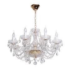Mw Light Crystal Gold 85cm Kronleuchter E14 367012708