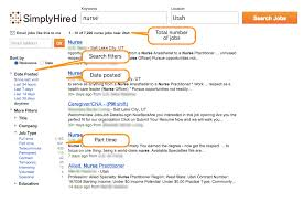 how search filters can save you time simply hired blog here is the example of a simply hired search results page that shows part time nurse jobs posted in the last seven days note that last 7 days and