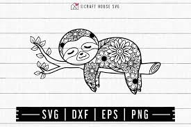 Free earring template svg download. Free Sloth Mandala Svg Craft House Svg