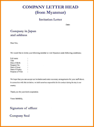 Format For Invitation 24 Formal Invitation Letter Format Sample Knowing Babrk 5