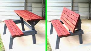 Table bench outdoor furniture woodworking how to