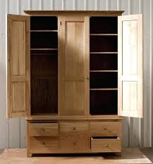 solid oak wardrobe image gallery of with drawers and shelves view 2 best ideas on handmade