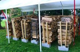 wood pile storage woodstove photo
