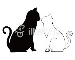 猫 イラスト シルエット 無料壁紙イラスト