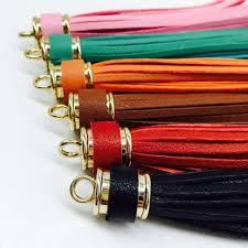 tassel leather women keychain pendant pu metal phone bag handbag purse charm diy porte clef sleutelhanger trinket llaveros keychain key fob from prevalent