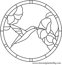 hummingbird outline stained glass pattern