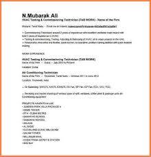 aircon technician resume