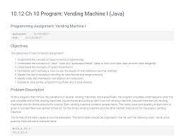 Java Vending Machine Inspiration VendingMachinejava Import Javaio Import Java Chegg
