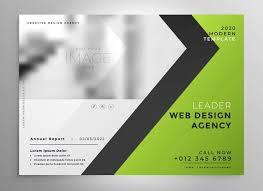 Green Brochure Template Green Brochure Template Presentation Design Download Free Vector