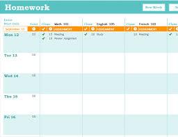 homework planner template pdf homework scheduler