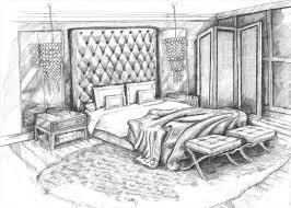 Bedroom Interior Design Sketches Sketch Interior Design Pencil Drawing Art Master Bedroom