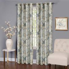tranquil silver lined grommet window curtain panel 50 in w x 63 in