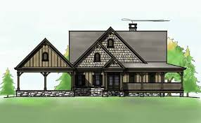 Bedroom Open Floor Plan   Wraparound Porch and Basementlakefront house plan   wraparound porch and walkout