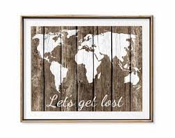 Small Picture World map decor Etsy
