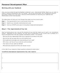 personal plan template 13 personal development plan templates free sample example format