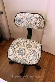 reupholstering an office chair. DIY Desk Chair Makeover Reupholstering An Office U