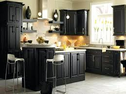 image of distressed black kitchen cabinets antique white paint color