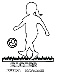 Soccer Coloring Page A Silhouette Of Little Girl Playing Soccer