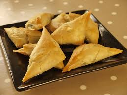spinach and feta filo parcels