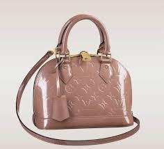 louis vuitton mini purse. louis vuitton alma bb vernis in rose velours mini purse