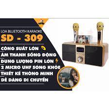 Loa karaoke bluetooth SD 309 - Loa mắt cú cao cấp nhất - Tặng kèm 2 micro  không