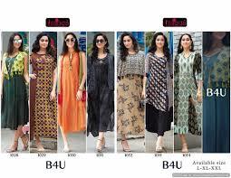 Designer Kurtis Surat Gujarat Wholesale Rate Designer Rayon Dyed And Printed Designer