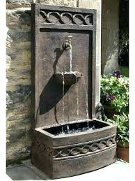 wall water fountain large outdoor features fountains garden for home
